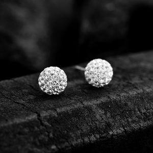 Sparkling Crystal Ball Stud Earring